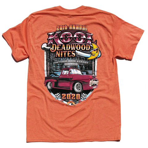 Kool Deadwood Nites 2020 T-Shirt Pale Orange