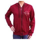 American & Checkered Flag KDN Women's Burgundy Hoodie