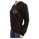 American & Checkered Flag KDN Women's Black Hoodie