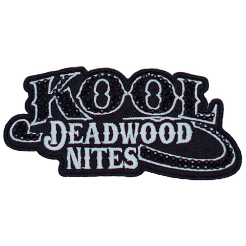 Kool Deadwood Nites Subdued Rhinestones Logo Patch