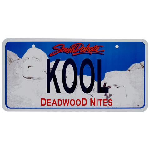 Koo Deadwood Nites South Dakota License Plate
