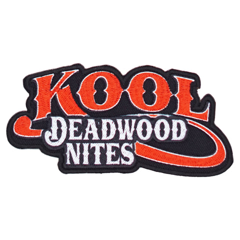 Kool Deadwood Nites Red Iron On Logo Patch