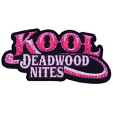 Pink Studded Kool Deadwood Nites Iron On Patch
