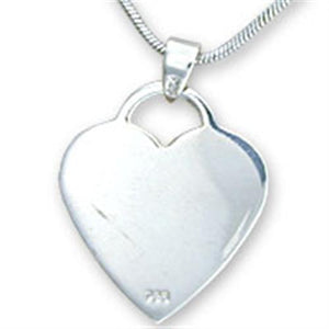 09722 High-Polished 925 Sterling Silver Pendant with No Stone in No Stone