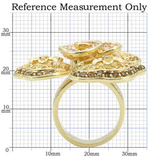Load image into Gallery viewer, 0W312 - Gold Brass Ring with AAA Grade CZ  in Multi Color