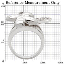Load image into Gallery viewer, 0W147 - Rhodium Brass Ring with AAA Grade CZ  in Clear