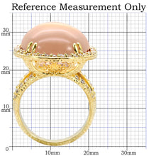 Load image into Gallery viewer, 1W056 - Gold Brass Ring with Synthetic Synthetic Glass in Champagne