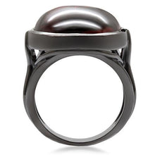 Load image into Gallery viewer, 1W100 - Ruthenium Brass Ring with AAA Grade CZ  in Garnet