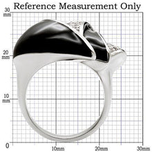 Load image into Gallery viewer, 1W105 - Rhodium Brass Ring with AAA Grade CZ  in Clear