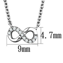 Load image into Gallery viewer, 3W1022 - Rhodium Brass Chain Pendant with AAA Grade CZ  in Clear