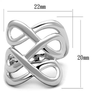 3W1076 - Rhodium Brass Ring with No Stone