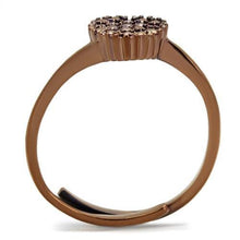 Load image into Gallery viewer, 3W1166 - IP Coffee light Brass Ring with AAA Grade CZ  in Light Coffee