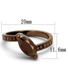 Load image into Gallery viewer, 3W1190 - IP Coffee light Brass Ring with AAA Grade CZ  in Light Coffee