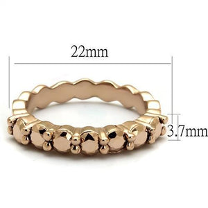 3W1195 - IP Rose Gold(Ion Plating) Brass Ring with AAA Grade CZ  in Metallic Light Gold