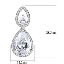 Load image into Gallery viewer, 3W1427 - Rhodium Brass Jewelry Sets with AAA Grade CZ  in Clear