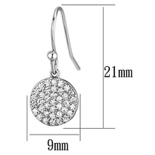 Load image into Gallery viewer, 3W369 - Rhodium Brass Earrings with AAA Grade CZ  in Clear