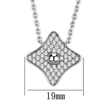 Load image into Gallery viewer, 3W430 - Rhodium Brass Necklace with AAA Grade CZ  in Clear