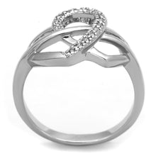 Load image into Gallery viewer, 3W569 - Rhodium Brass Ring with AAA Grade CZ  in Clear
