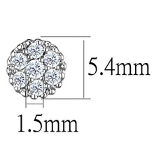 Load image into Gallery viewer, 3W623 - Rhodium Brass Earrings with AAA Grade CZ  in Clear