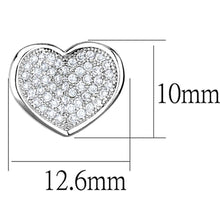 Load image into Gallery viewer, 3W668 - Rhodium Brass Earrings with AAA Grade CZ  in Clear