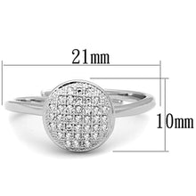 Load image into Gallery viewer, 3W749 - Rhodium Brass Ring with AAA Grade CZ  in Clear