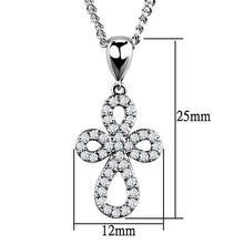 Load image into Gallery viewer, 3W845 - Rhodium Brass Chain Pendant with AAA Grade CZ  in Clear