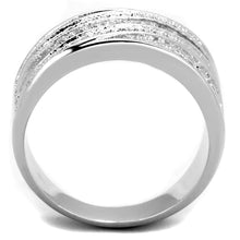 Load image into Gallery viewer, 3W882 - Rhodium Brass Ring with AAA Grade CZ  in Clear
