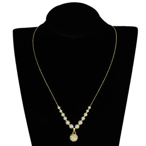 3W947 - Gold Brass Jewelry Sets with Synthetic Pearl in White
