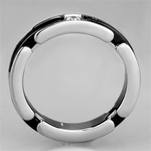 Load image into Gallery viewer, 3W962 - High polished (no plating) Stainless Steel Ring with Ceramic  in Jet