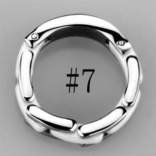 Load image into Gallery viewer, 3W973 - High polished (no plating) Stainless Steel Ring with Ceramic  in White