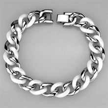 Load image into Gallery viewer, 3W999 - High polished (no plating) Stainless Steel Bracelet with Ceramic  in White