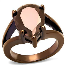 Load image into Gallery viewer, 3W1174 - IP Coffee light Brass Ring with AAA Grade CZ  in Light Coffee