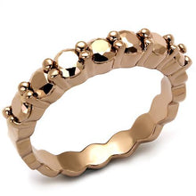 Load image into Gallery viewer, 3W1195 - IP Rose Gold(Ion Plating) Brass Ring with AAA Grade CZ  in Metallic Light Gold