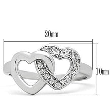 Load image into Gallery viewer, 3W123 - Rhodium Brass Ring with AAA Grade CZ  in Clear