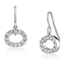 Load image into Gallery viewer, 3W1278 - Rhodium Brass Earrings with AAA Grade CZ  in Clear