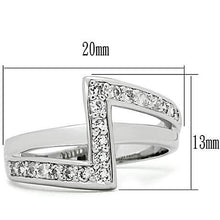 Load image into Gallery viewer, 3W127 - Rhodium Brass Ring with AAA Grade CZ  in Clear