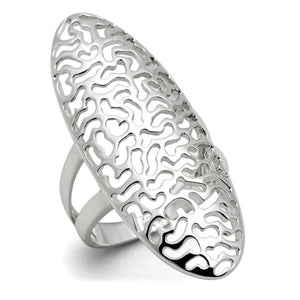 3W169 - Rhodium Brass Ring with No Stone