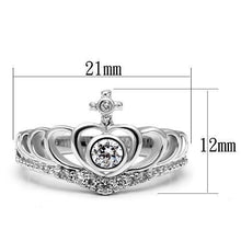 Load image into Gallery viewer, 3W229 - Rhodium Brass Ring with AAA Grade CZ  in Clear