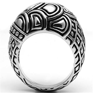 3W242 - Rhodium Brass Ring with No Stone