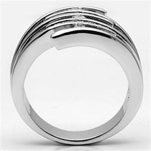 Load image into Gallery viewer, 3W285 - Rhodium Brass Ring with AAA Grade CZ  in Clear