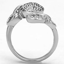 Load image into Gallery viewer, 3W321 - Rhodium Brass Ring with AAA Grade CZ  in Clear