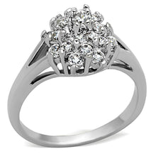 Load image into Gallery viewer, 3W479 - Rhodium Brass Ring with AAA Grade CZ  in Clear