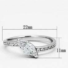 Load image into Gallery viewer, 3W528 - Rhodium Brass Ring with AAA Grade CZ  in Clear
