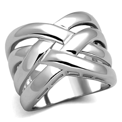 3W784 Rhodium Brass Ring with No Stone in No Stone