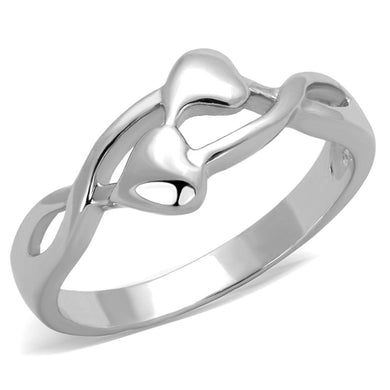 3W859 Rhodium Brass Ring with No Stone in No Stone