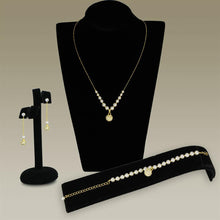 Load image into Gallery viewer, 3W947 - Gold Brass Jewelry Sets with Synthetic Pearl in White