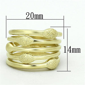 LOA898 Matte Gold Brass Ring with No Stone in No Stone