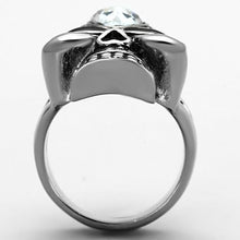 Load image into Gallery viewer, TK1313 High polished (no plating) Stainless Steel Ring with Top Grade Crystal in Clear