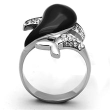 Load image into Gallery viewer, TK1326 High polished (no plating) Stainless Steel Ring with Top Grade Crystal in Clear