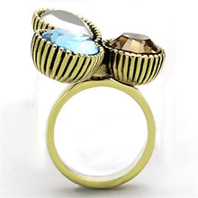 Load image into Gallery viewer, TK1496 IP Gold(Ion Plating) Stainless Steel Ring with Top Grade Crystal in Multi Color
